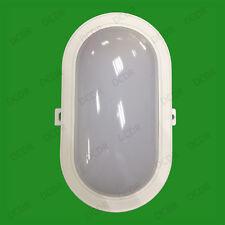 White 5W 3000K Warm Light LED Surface Mountable Bulkhead Lamp, IP44, 230V Mains