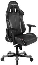 DXRacer KS57 Series PC Gaming Chair - Black & Carbon Grey w/ Lumbar Support[O..