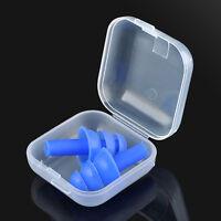 Soft Silicone Ear Plugs Study Sleep Anti Noise Snore Comfortable Earplugs +Box
