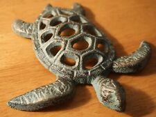 Nautical Sea Turtle Honu Cast Iron Wall Plaque Tropical Beach Home Decor New