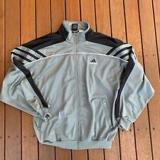 Vintage Adidas Full Zip Training Jacket Grey Black Size XL