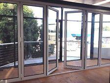 ALUMINIUM DOUBLE GLAZED BIFOLD DOOR - 6 Panel - 2110h x 4810w | White