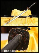High Quality Japan Samurai Sword Katana Clay Tempered T10 Steel Sharp Blade #800