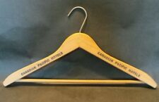 Vintage Canadian Pacific Hotel Wooden Clothes Coat Hanger Canada Advertising