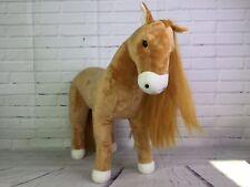 Madame Alexander Large Horse Plush Stuffed Animal Poseable 19in Tan Long Mane