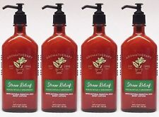 Bath and & Body Works Aromatherapy x4 STRESS RELIEF EUCALYPTUS SPEARMINT Lotion