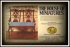 DOLL HOUSE OF MINIATURES CHIPPENDALE STUNNING CABRIOLE LEG DOUBLE CHAIR SETTEE