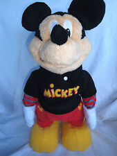 "Mickey Mouse Singing Dancing Dance Star 18"" Disney Plush Toy Stuffed Animal"