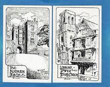 More details for 6 bristol 'pen & ink' mervyn chambers 1914 pcs unused    z324