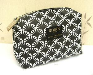 Elemis Large Hayley Menzies Black & White Patterened Lined Make Up Bag