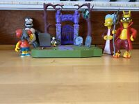 SIMPSONS Playmates Toys Springfield Cemetery 1st TREEHOUSE OF HORROR