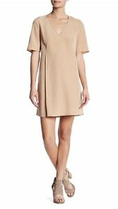 END OF YEAR SALE! BCBGeneration Women XS Camel Pleated Short Sleeve Dress NWT