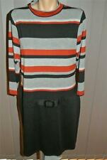 NEW Stripe Bodice BLACK DRESS Size 18 Rockmans RRP $69.99. Work/Casual Wear