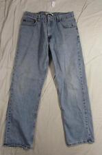 Levi 505 Straight Leg Zipper Fly Faded Denim Jean Tag Size 36x32 Measure 34x31