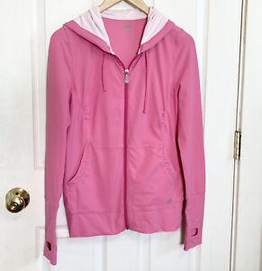 Alo Yoga CoolFit Pink Zip Hooded Ruched Light Jacket Size Medium
