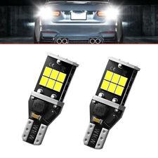 2 x High Power Super White 921 912 T15 6000K LED Bulb For Backup Reverse Light