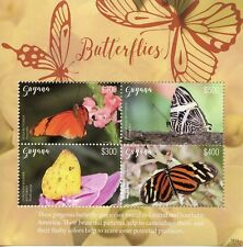 Guyana 2018 MNH Butterflies Julia Butterfly Longwing 4v M/S II Insects Stamps