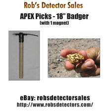 "Apex 18"" Badger LT Prospecting Pick - Gold Prospecting Pick for Gold Nuggets"