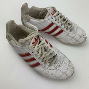 Adidas Tuscany Goodyear Racing Men's Shoes Size 7 White Red 779001