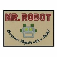 Mr Robot Iron On Patch Cosplay Fancy Dress Fsociety Badge/Applique/Transfer Sew