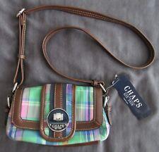 Chaps Ralph Lauren Hillcrest Green Madras Crossbody Handbag Purse NWT