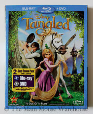 Disney's Twist on Rapunzul Fairy Tale Tangled Blu-ray DVD English French Spanish
