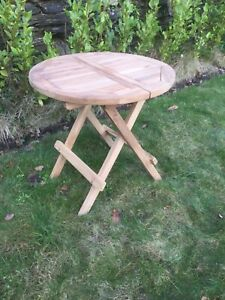 Solid Grade A Teak Folding Side / Picnic Table 50cm High