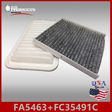 FA5463 FC35491C(CARBON) ENGINE & CABIN AIR FILTER ~ 2003-08 TOYOTA COROLLA 1.8L