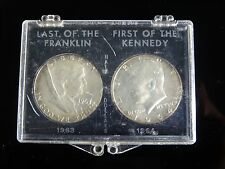1963 franklin & 1964 kennedy half dollars