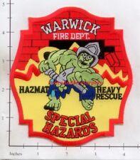 Rhode Island - Warwick Haz Mat RI Fire Dept Patch
