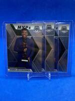2020 Mosaic MVP Goannis Antetokounmpo (3) Card Lot