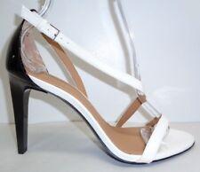 Calvin Klein Size 9.5 NARELLA White Black Patent Sandals New Womens Shoes