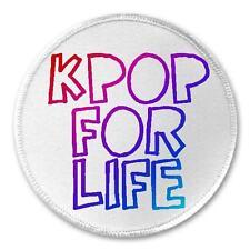 "Kpop For Life - 3"" Sew / Iron On Patch K Pop Korean Music Fan Fangirl Gift"