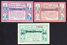 Patschkau-VILLE-totalement assurée. NOTGELD Série, billets de 3 (L 1024 A)