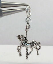 Sterling Silver Carousel Pony with Spring Ring for Charm Bracelets - 0854
