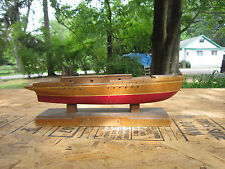 Antique 1889 Fishing Yawl Miniature Boat Wood Ship!  Needs some TLC. nautical
