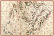 Central Mediterranean Sea Italy Sicily Nautical map Battista Agnese ca.1544