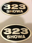 HONDA CB450K CB500 CB500K CL450K  SHOWA REAR SHOCK ABSORBER DECALS X 2
