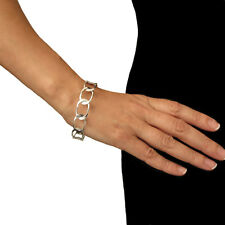 Chain Bangle 925 Sterling Silver Curb Design Cuff Gift Boxed