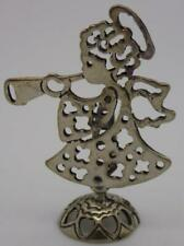 Vintage Solid Silver Italian Made Christmas Angel Table Place Holder, Stamped
