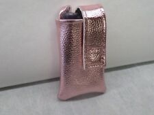 Pink Rose Gold Leather Insulin Pump Pouch Minimed animas Tslim