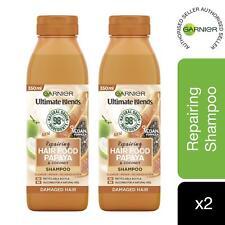 2 Pack Garnier Ultimate Blends Hair Food Papaya Shampoo For Damaged Hair 350ml