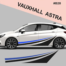 Fits Vauxhall Astra Side Racing Stripes Decal Graphics /Tuning Car Stickers