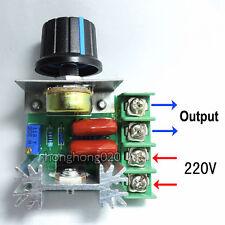 2000W AC 50-220V Regulador De Voltaje PWM Motor Controlador De Velocidad Luz