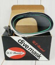 Vintage Dive Mask Nemrod Bermuda One Piece Oval Glass with Box, Brand New Strap