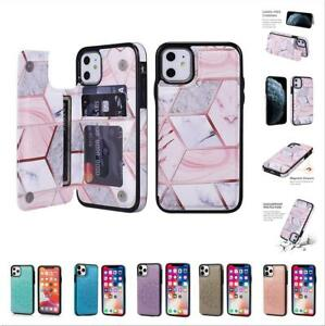 Leather Flip Wallet Card Holder Case Cover For iPhone 12 7 8 11 Pro Max SE XS XR
