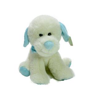 Korimco Nursery Collection Pastel Puppies Blue Plush Soft Stuffed Toy 19cm NWT