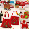 Santa Claus Christmas Candy Bag Elf Elk Pants Treat Pocket Home Party Gift Decor
