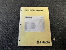 Hitachi ZAXIS 30 35 40 50 Mini Excavator Shop Service Repair Manual