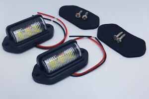 🔥Universal Number Plate LED Light Lamp for Car Trailer Motorcycle Lorry SUV ×2
